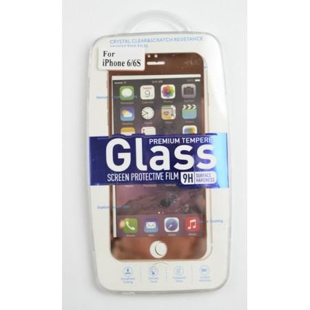 Folie sticla securizata pentru IPHONE 6/6s Fata+Spate Gold