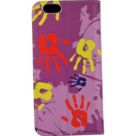 Husa Book Pocket Magnetic Lock pentru Iphone 6, Model Hands