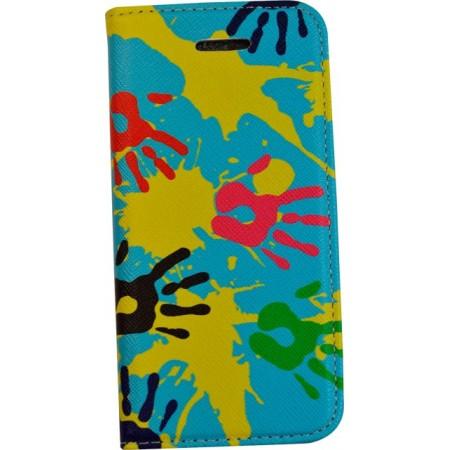 Husa Book Pocket Magnetic Lock pentru Iphone 5, Model Hands