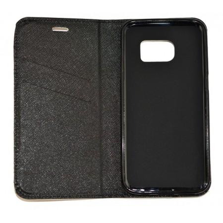 Husa Book Pocket Magnetic Lock pentru Samsung S7, Model Skateboard
