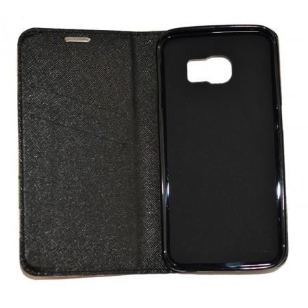 Husa Book Pocket Magnetic Lock pentru Samsung S6 Edge, Model France Eiffel