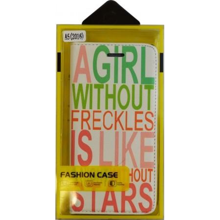 Husa Book Pocket Magnetic Lock pentru Samsung A5 2016, Model Girl