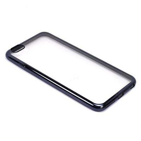 Husa E-TPU  pentru Iphone 5, margine neagra