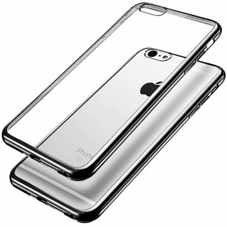 Husa E-TPU pentru Iphone 6, margine neagra