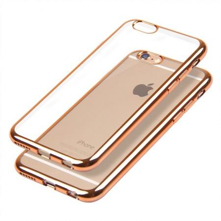 Husa E-TPU  pentru Iphone 5, margine rose gold