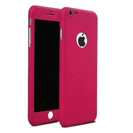Husa Full Cover (fata + spate+ geam sticla) pentru Apple iPhone 6S, Pink