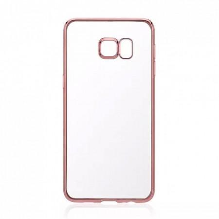 Husa E-TPU pentru Samsung S6, margine rose gold