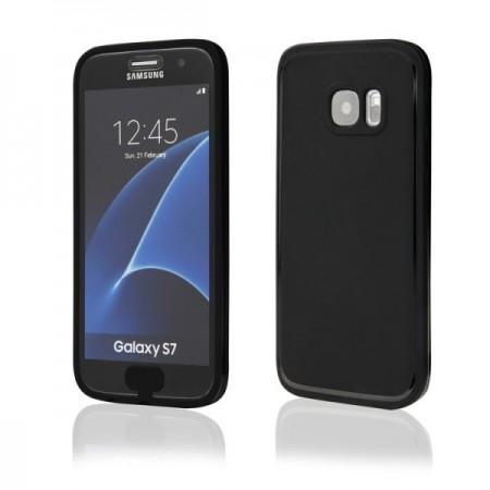 Husa de protectie  ultraslim pt Samsung Galaxy S7, silicon, negru