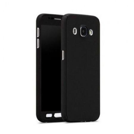 Husa Full Cover 360 (fata + spate+ geam sticla) pentru Samsung J3 2017, Black
