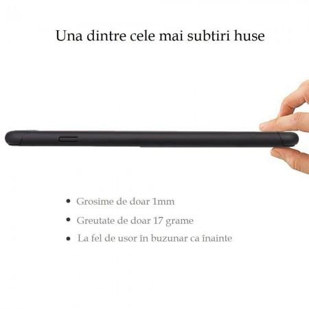 Husa Full Cover Ipaky 360 (fata + spate+ geam sticla) pentru Apple iPhone 6 Plus,Black
