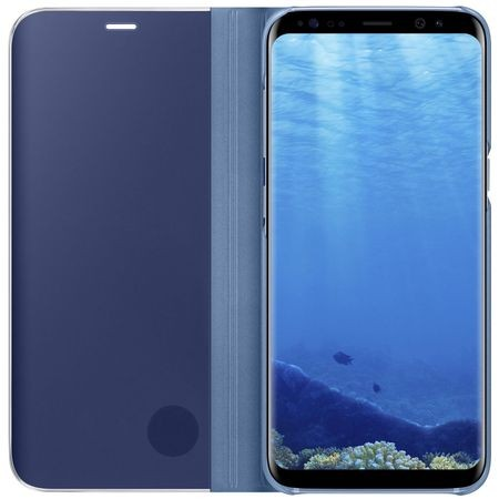 Husa Flip Stand Clear View, Samsung Galaxy S8, Blue