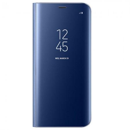 Husa Flip Stand Clear View, Samsung Galaxy S8 Plus, Blue
