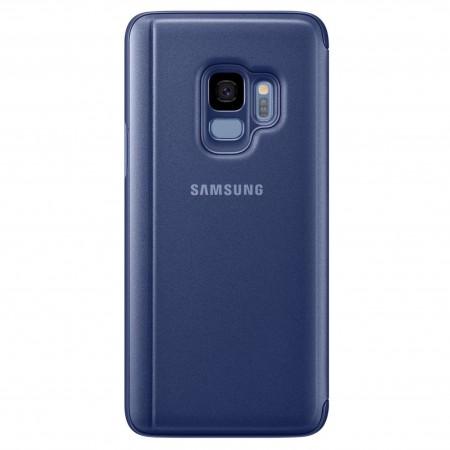 Husa Flip Stand Clear View, Samsung Galaxy S9, Blue