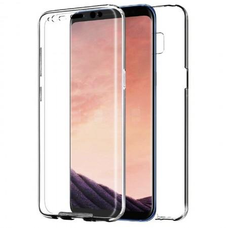 Husa 360 (fata+spate) silicon transparent pentru Samsung A71