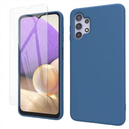 Husa Samsung A32 5G, silicon,cu interior de catifea, Blue
