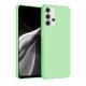 Husa Samsung A32 5G, silicon,cu interior de catifea, Verde