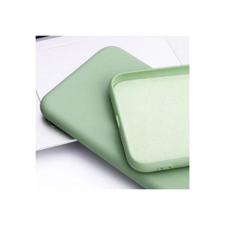 Husa Samsung A52/ A52 5G, silicon,cu interior de catifea, Verde