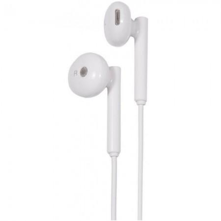Casti audio cu volum control Huawei AM115 Stereo Alb