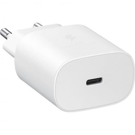 Incarcator Samsung Super Fast Charging, EP-TA80EWE (Max. 25W), C to C Cable, White