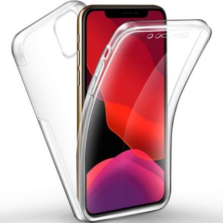 Husa 360 (fata+spate) silicon transparent pentru Apple Iphone 11 Pro
