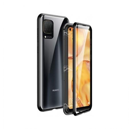 Husa Magnetic Glass 360° (sticla spate + bumper) pentru Huawei P40 Lite, Black