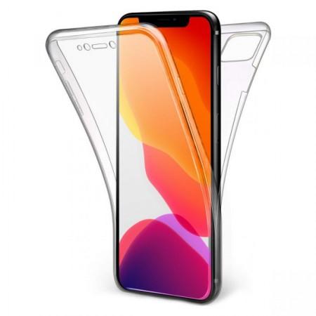 Husa 360 (fata+spate) silicon transparent pentru Apple Iphone 11