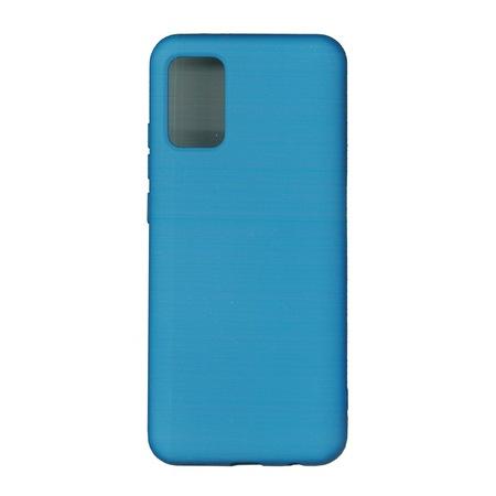 Husa Samsung A02S, silicon,cu interior de catifea, Blue