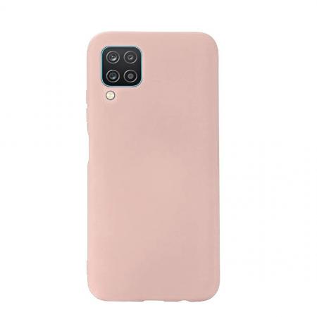 Husa Samsung A12, silicon,cu interior de catifea, Roz