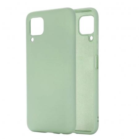 Husa Samsung A12, silicon,cu interior de catifea, Verde