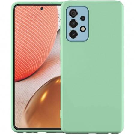 Husa Samsung A72, silicon,cu interior de catifea, Verde