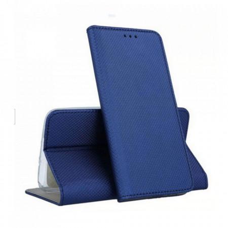Husa Book Pocket Magnetic Lock Albastru pentru Samsung A20S