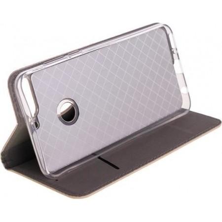 Husa Book Pocket Magnetic Lock Auriu Samsung Galaxy A20E