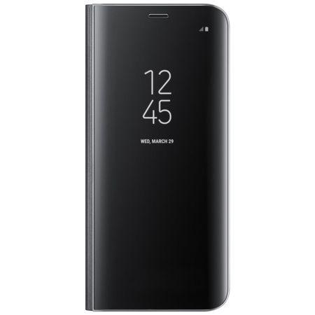 Husa Flip Stand Clear View Samsung A20S, Negru