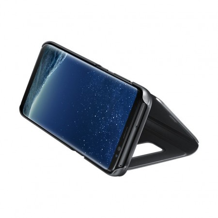 Husa Flip Stand Clear View, Huawei P30 Lite,Black