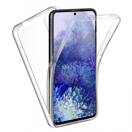 Husa 360 (fata+spate) silicon transparent pentru Samsung S20