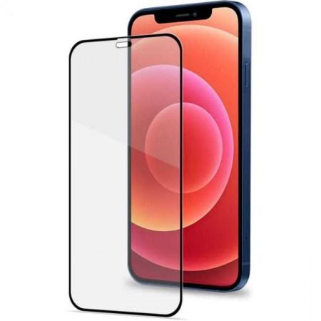 Folie sticla securizata Iphone 12, 9D, Full Glue, Negru