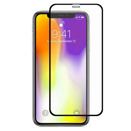Folie sticla securizata Iphone XR/ Iphone 11, Full Glue, Negru