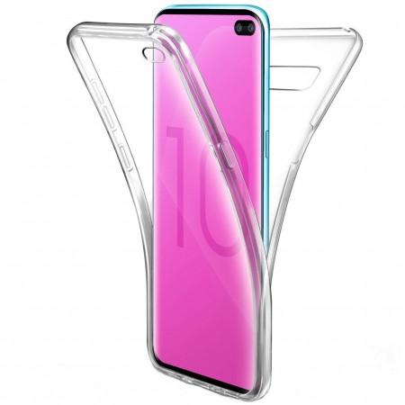 Husa 360 (fata+spate) silicon transparent pentru Samsung S10 Plus