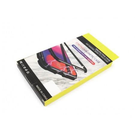 Husa Magnetic Glass 360° (sticla spate + bumper) pentru Samsung A71, Black