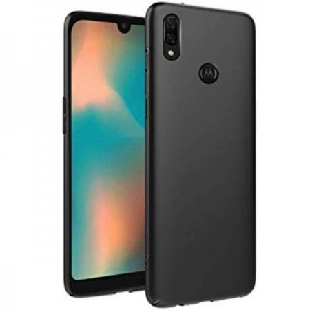 Husa TPU Silicon pentru Motorola One Action Negru