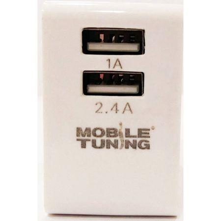 Incarcator retea Mobile Tuning pentru Tableta/Telefoane, 2 x USB, Intrare 100 - 240V / Iesire 1A + 2.4A