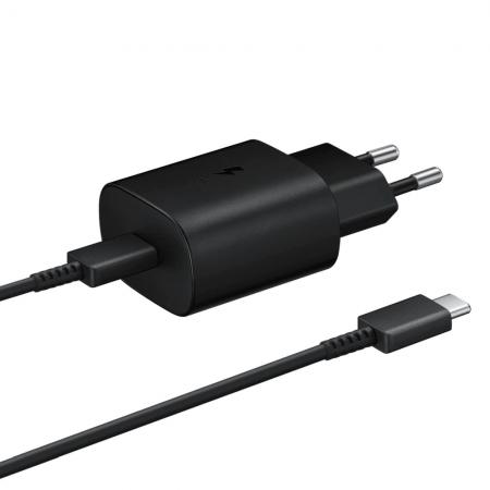 Incarcator High Quality Samsung EP-TA800EBE cu cablu Type-C EP-DG977BBE, 1M, Negru